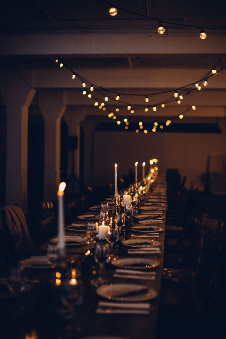 Candlelit supper club A rustic table setting for 100 guests Candlelit supper club A rustic table setting for 100 guests