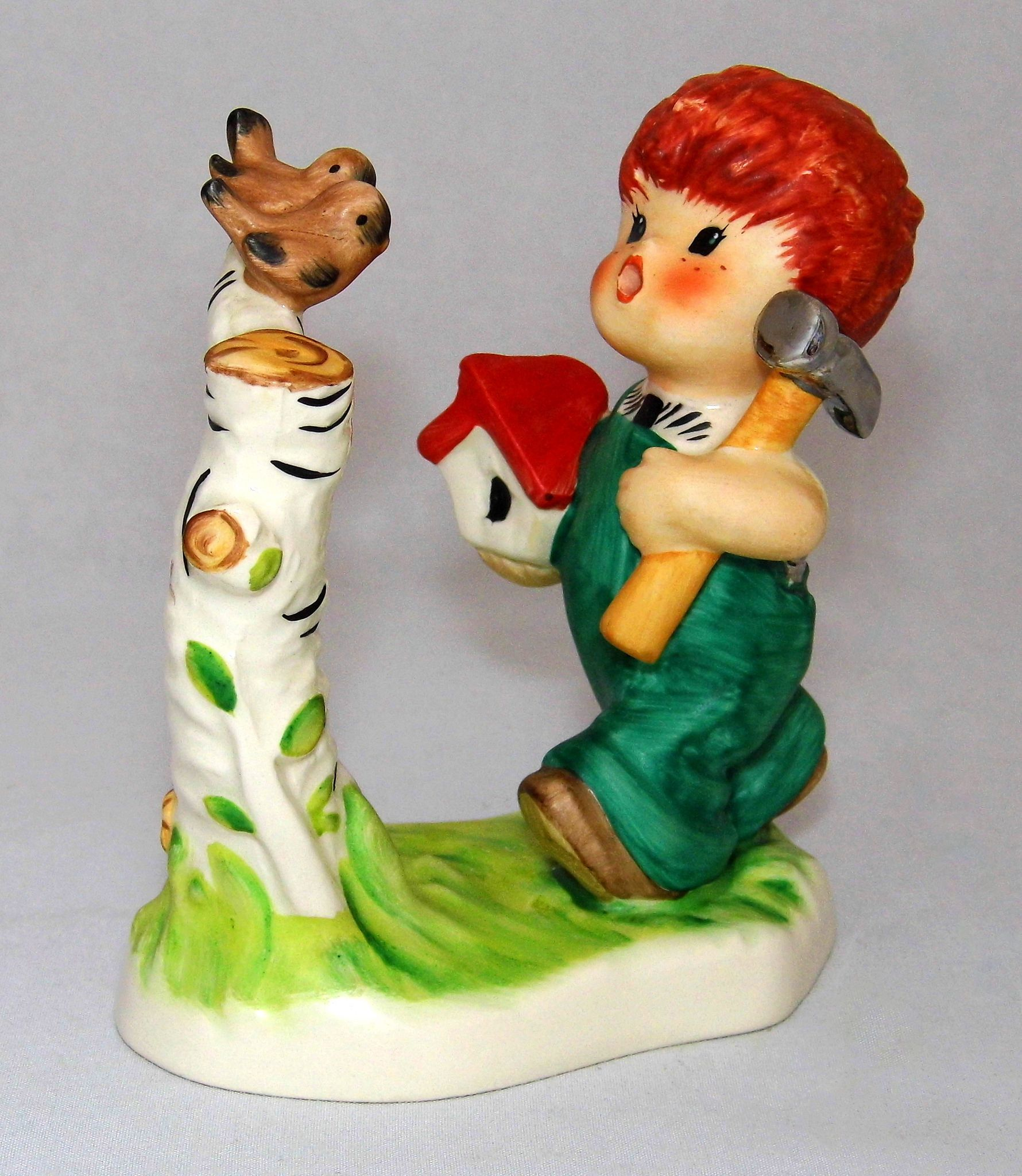 https://flic.kr/p/NfL7Zc | Vintage Goebel Red Heads Figurine By Charlot Byj Titled Springtime, 4.25 Inches High, Made In West Germany