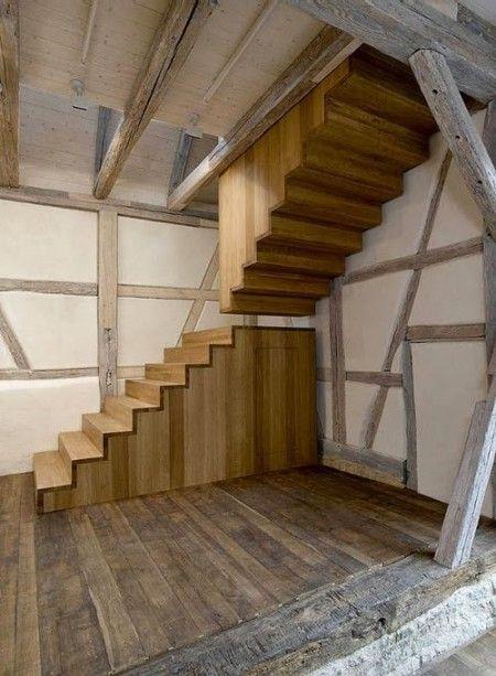14 ideas de escaleras de madera Escalera, Escalera de madera y Madera - escaleras de madera rusticas