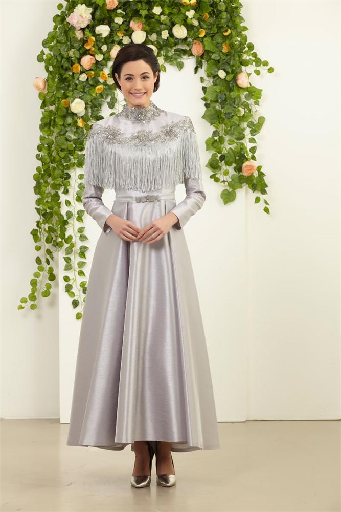 Yeni Sezon Elbiseler Modanisa Da Yeni Sezon Modanisa Com Tesettur Abiye Elbise Modelleri Arasinda Yer Alan Elbise Cesitliligind Dresses Fashion High Neck Dress