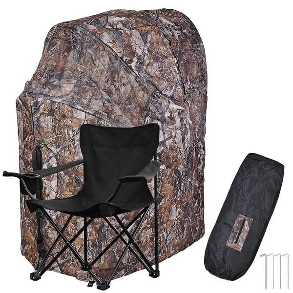 Thelashop Pop Up Deer Ground Hunting Chair Blind Camouflage Hunting Blinds Deer Hunting Blinds Ground Blinds