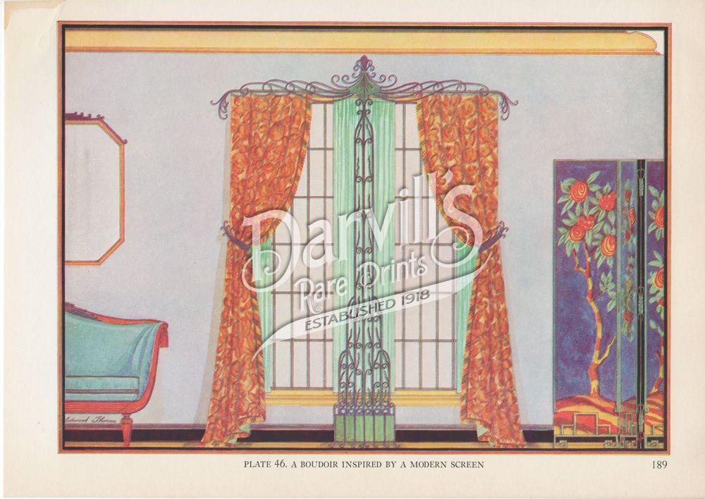 46-art-deco-boudoir.jpg (1000×708) Decorative Draperies & Upholstery by Edward Thorne Descriptive text by Henry W. Frohne Publisher: Garden City Publishing Co., Inc., New York ---1937---