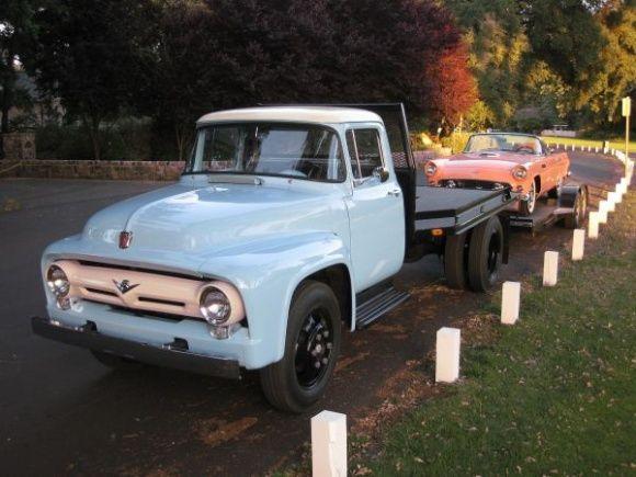 1956 Ford F600 Series Vintage Car Hauler ★。☆。JpM ENTERTAINMENT ☆。★。