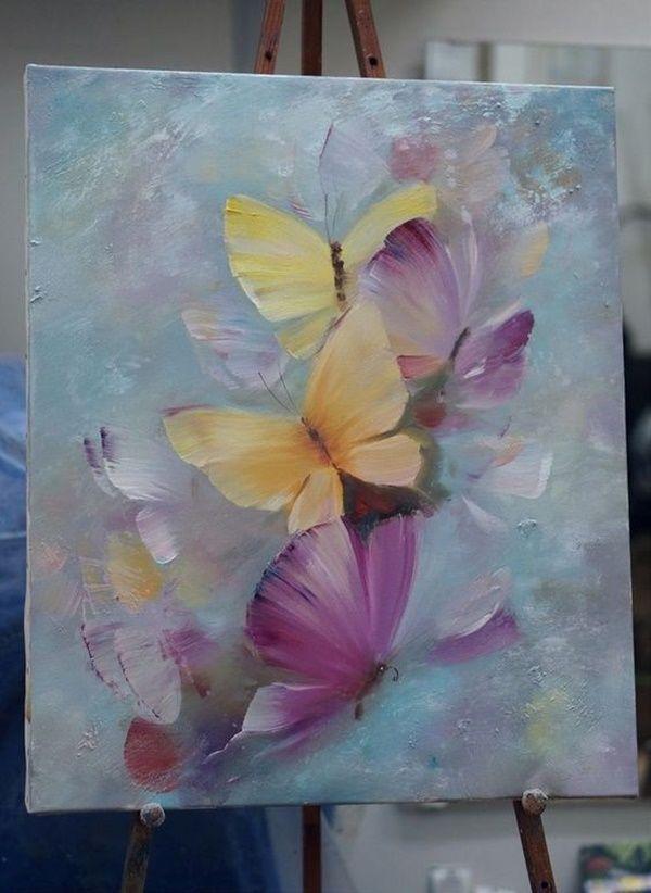 Idées Faciles De Peinture Sur Toile Acrylique Art Dessin