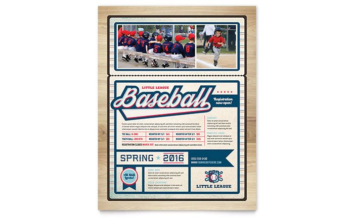 Baseball League Flyer Template Design By Stocklayouts  Layout
