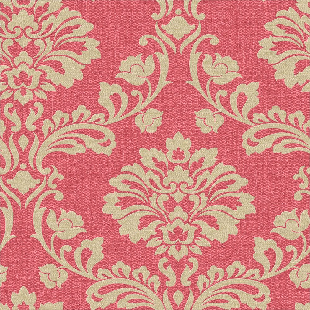 Superfresco Colours Aurora Red and Gold Wallpaper Red