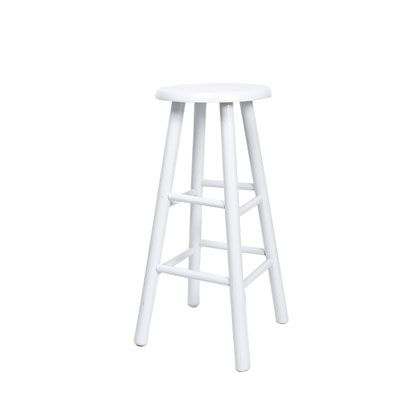 Classi White Wood Stool Wood Stool White Wood Yellow Houses