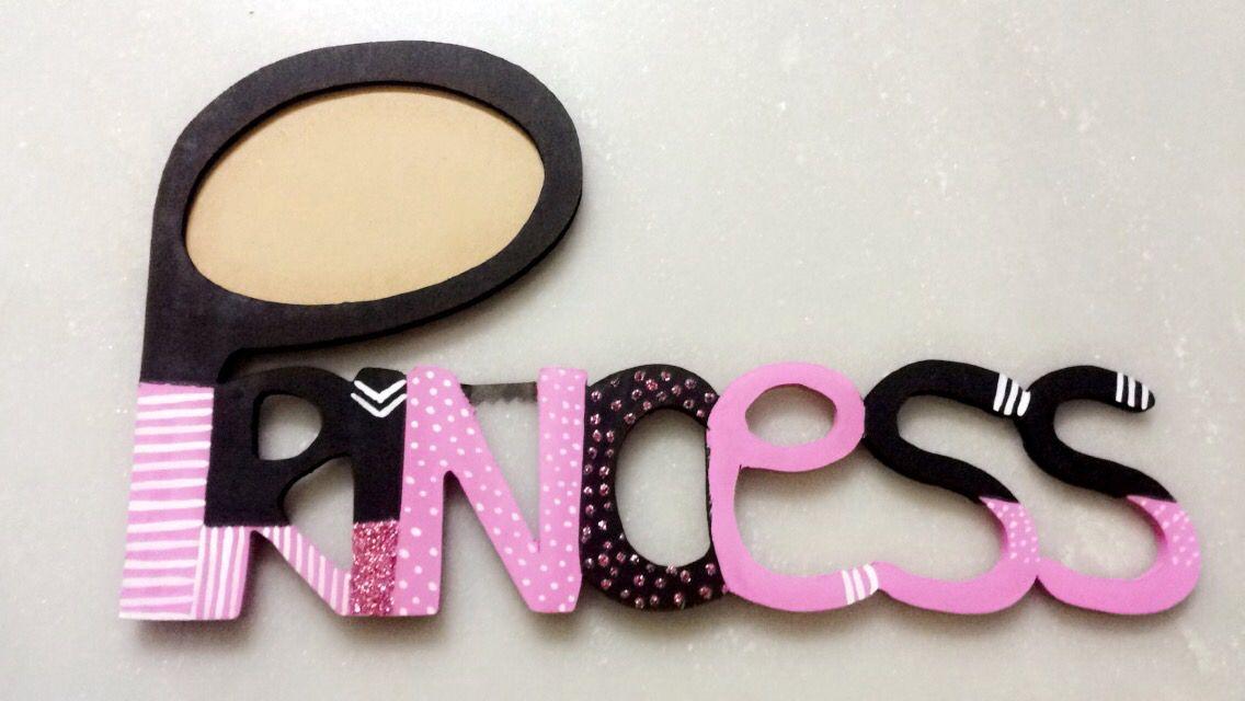 Minnie mouse concept, princess photo frame. Handpainted.