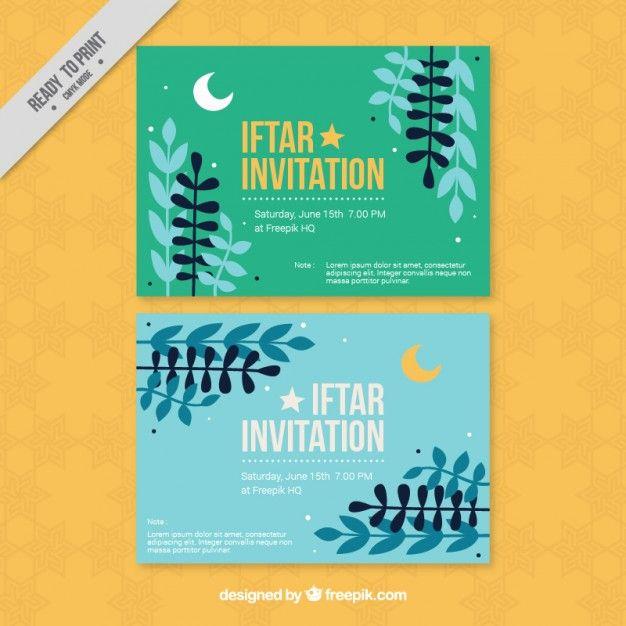 Pretty ramadan iftar invitations free vector color pinterest pretty ramadan iftar invitations free vector stopboris Image collections