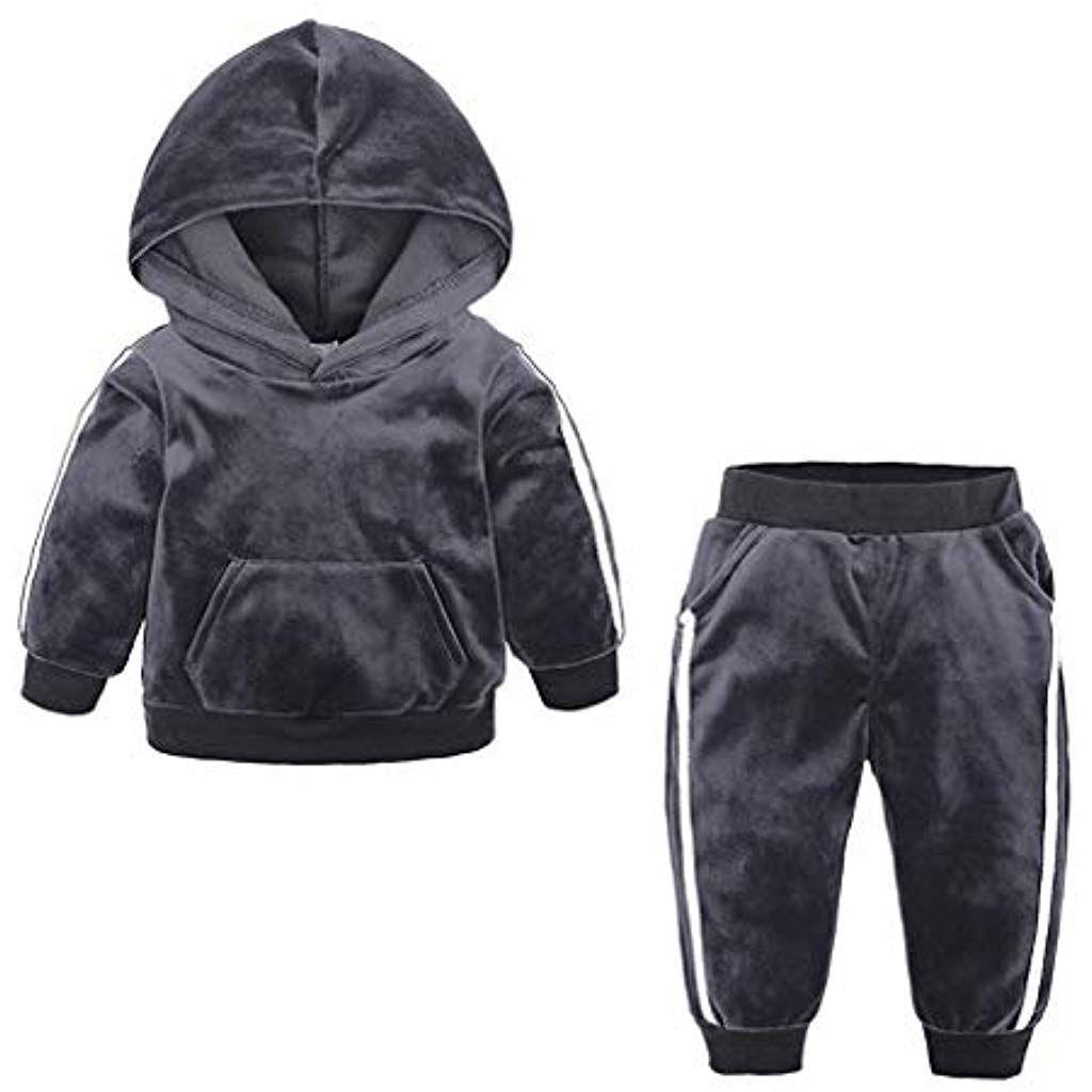 2Pcs//Set Kinder Baby Jungen Mädchen Kleidung Top+Hose Baumwolle Schlafanzüge