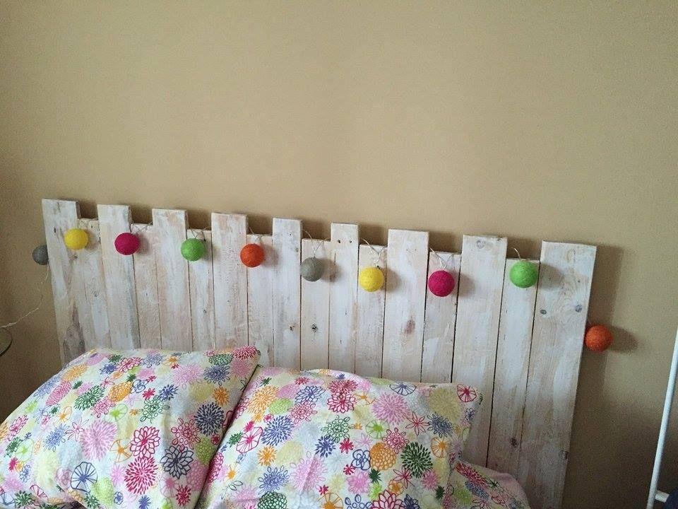 Cabecero palets nuestros trabajos con palet pinterest for Cabeceros de cama originales