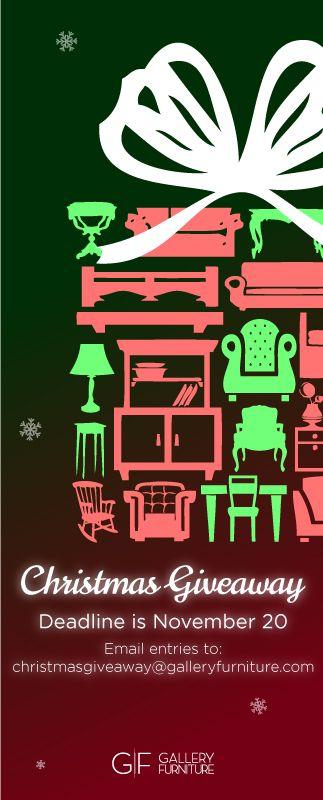 Christmasgiveaway galleryfurniture