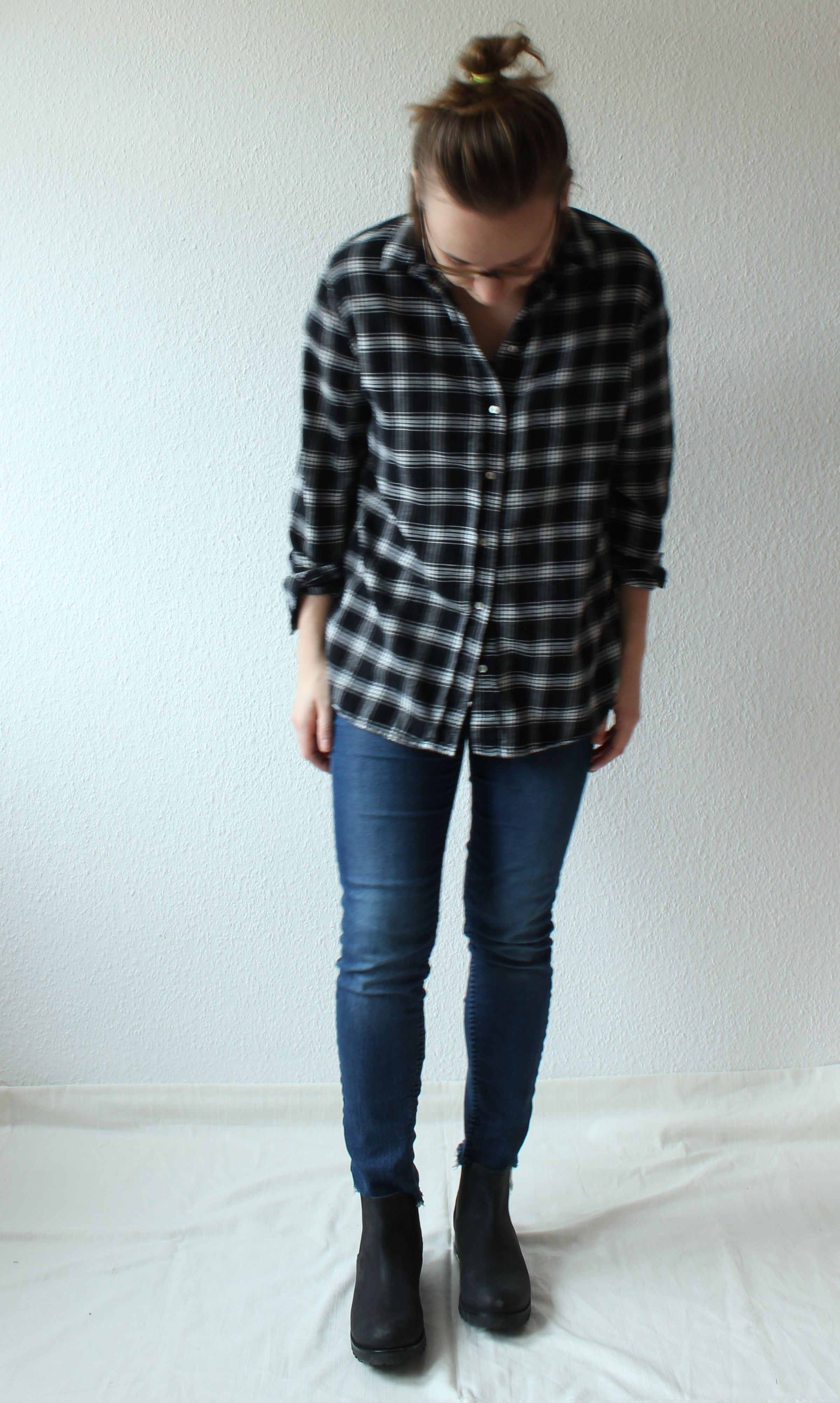 Outfit karierte Bluse // Checked Shirt,  Jeans and Boots