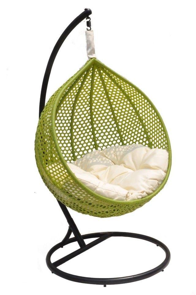 Columpios y sillas colgantes para el jardín - 50 ideas Ideas para