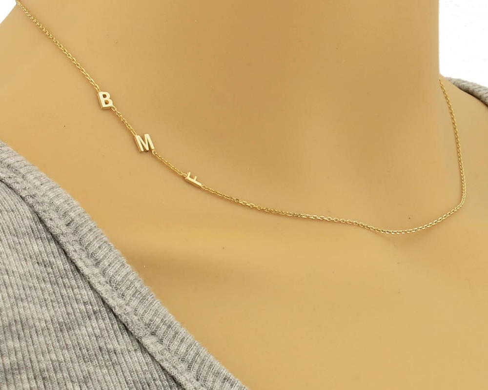 5mm Sideways Initial Necklace Initial Necklace Personalized Etsy Sideways Initial Necklace Initial Necklace Delicate Necklace