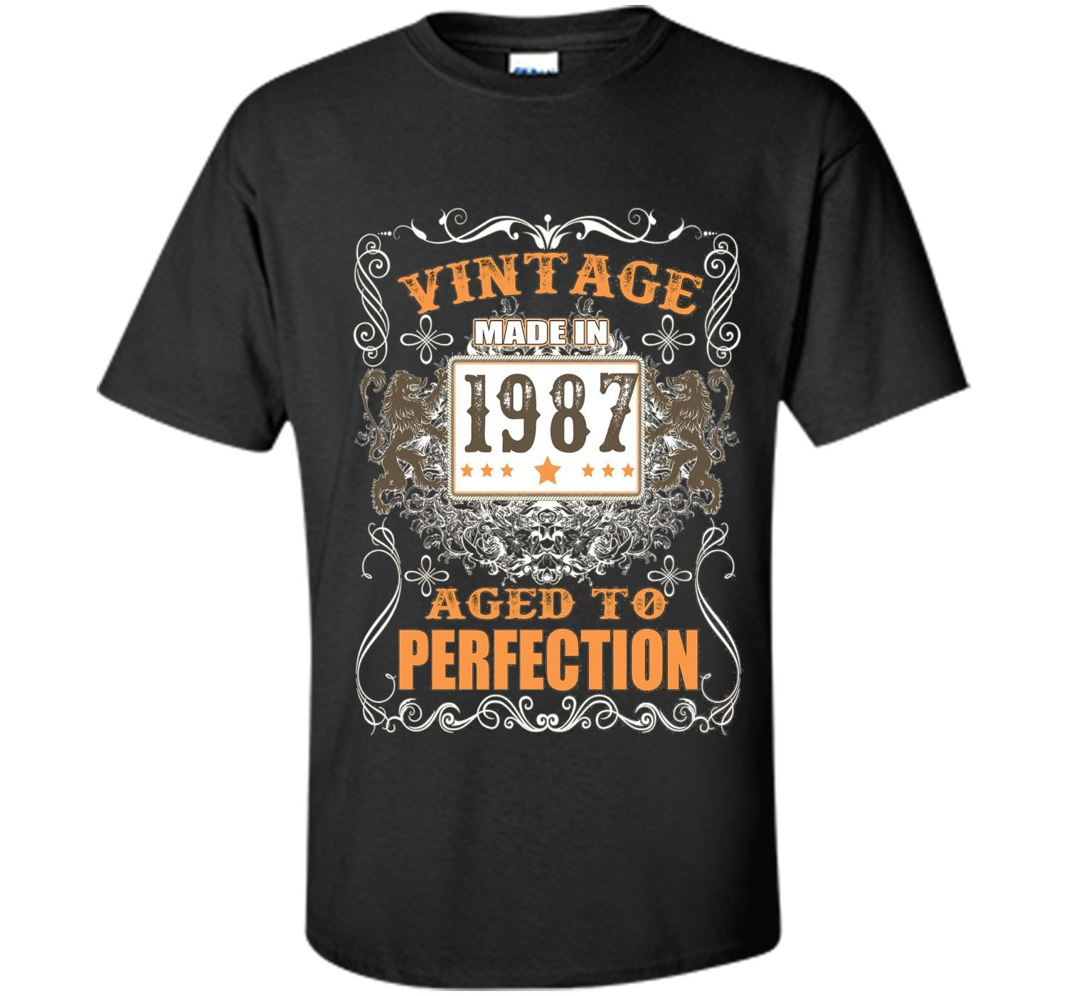 VINTAGE BORN IN 1987 T SHIRT 30 YEARS OLD BIRTHDAY