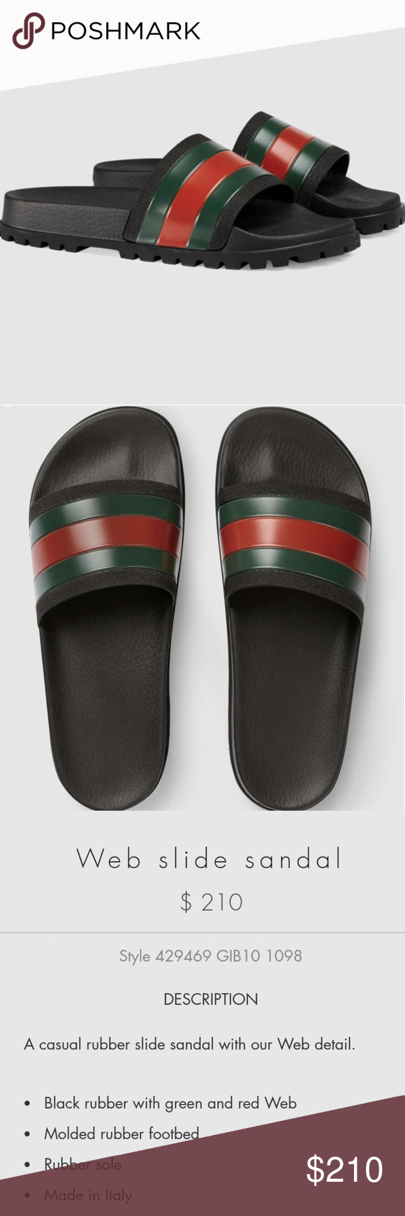 3f1f1683f Gucci slides Web slide sandal NEVER WORN. Received as a gift but doesn t