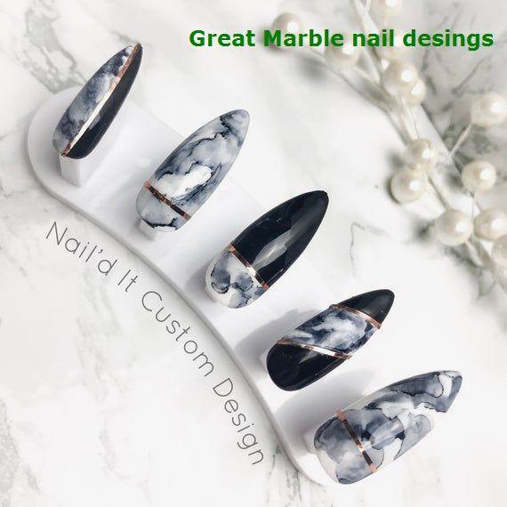 Photo of 25 MARBLE HEGN-DESIGN MED VANN- & NAILPOLISK 125 MARBLE HEGN-DESIGN MED VANN- & NAILPOLISK 1 #m