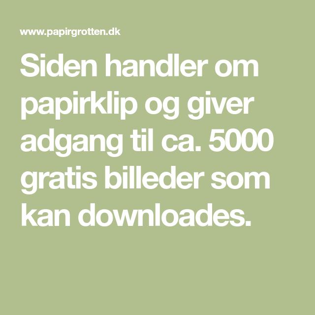Siden Handler Om Papirklip Og Giver Adgang Til Ca 5000 Gratis Billeder Som Kan Downloades Papirklip Og Billeder