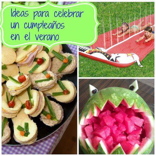 excelentes ideas para celebrar cumpleaos de nios en el verano