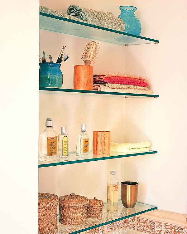 prateleiras de vidro para banheiro - Pesquisa Google