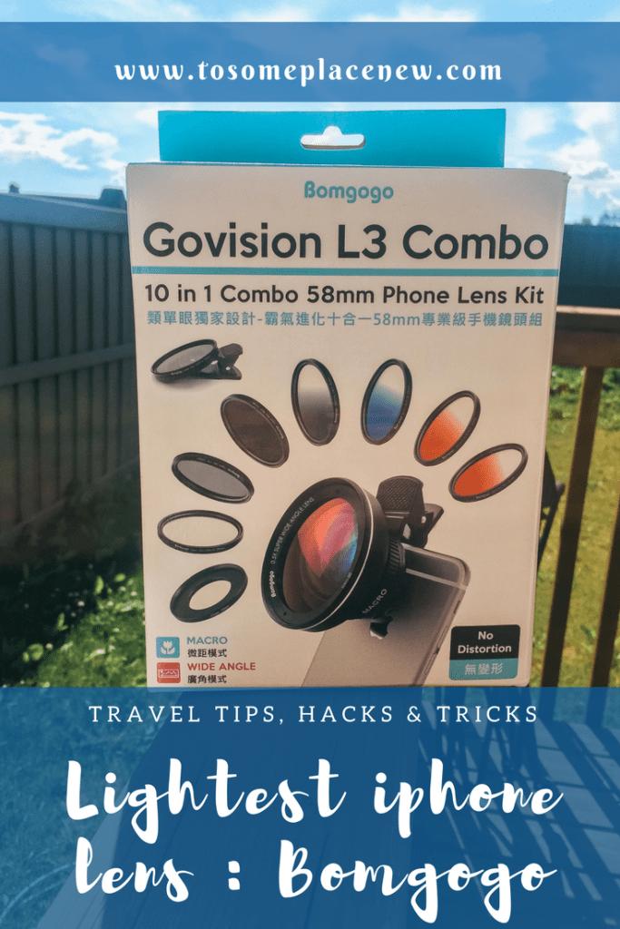 Bomgogo Govision: Lightest Camera lens kit for your iPhone | Pinterest