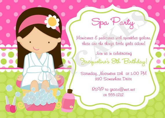 photo regarding Spa Party Printable named Spa Celebration Invitation Do it yourself Print Your Particular Take your through
