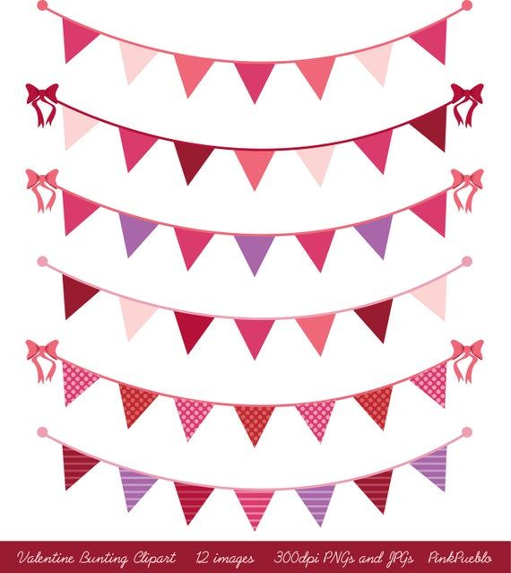 Valentines Day Bunting Clip Art Clipart, Valentines Day Clip Art Clipart, Valentine Clip Art Clipart #clipartfreebies