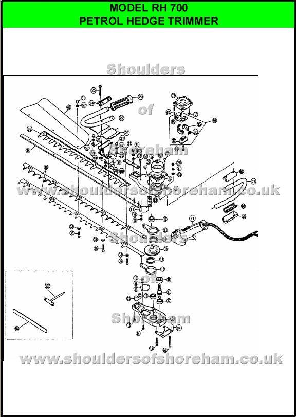 Ryobi RH700 Hedge Trimmer Spares Diagram | Ryobi hedgetrimmers ...