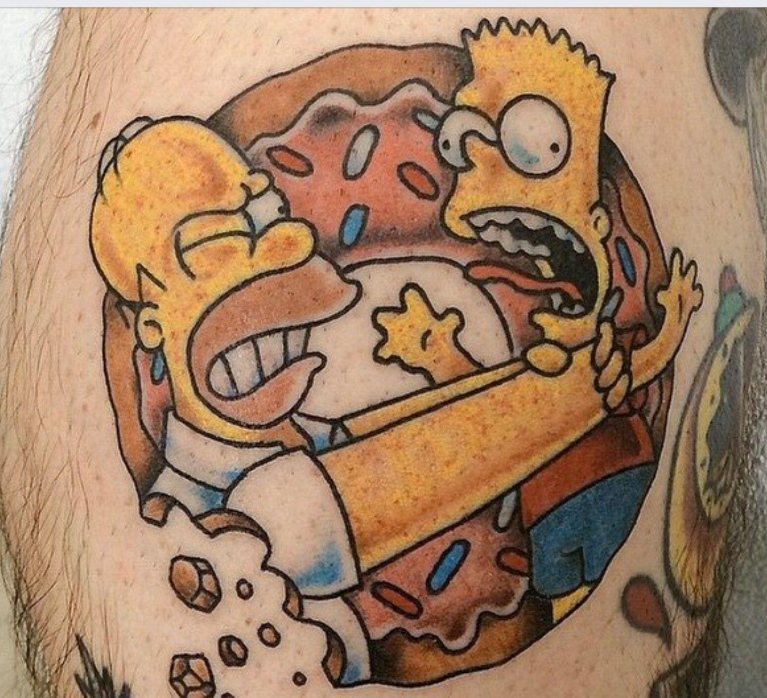 Bart Homer Tatuaje De Los Simpsons Tatuajes De Monos Tatuajes De Dibujos Animados