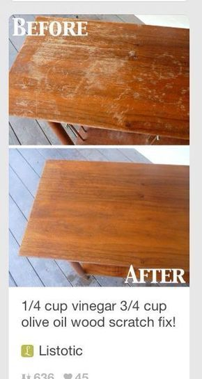 Wood Furniture Cleaning Hacks Diy Products Household