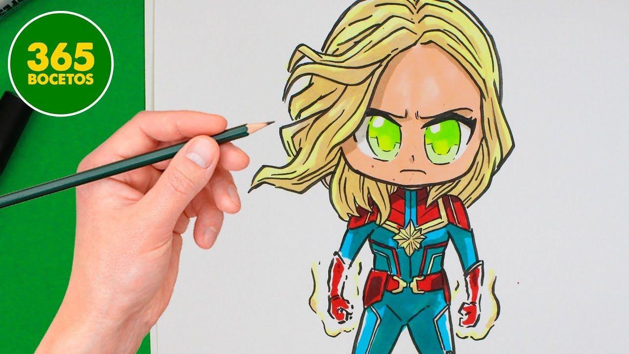 Como Dibujar A Capitana Marvel Chibi Como Dibujar A Capitana