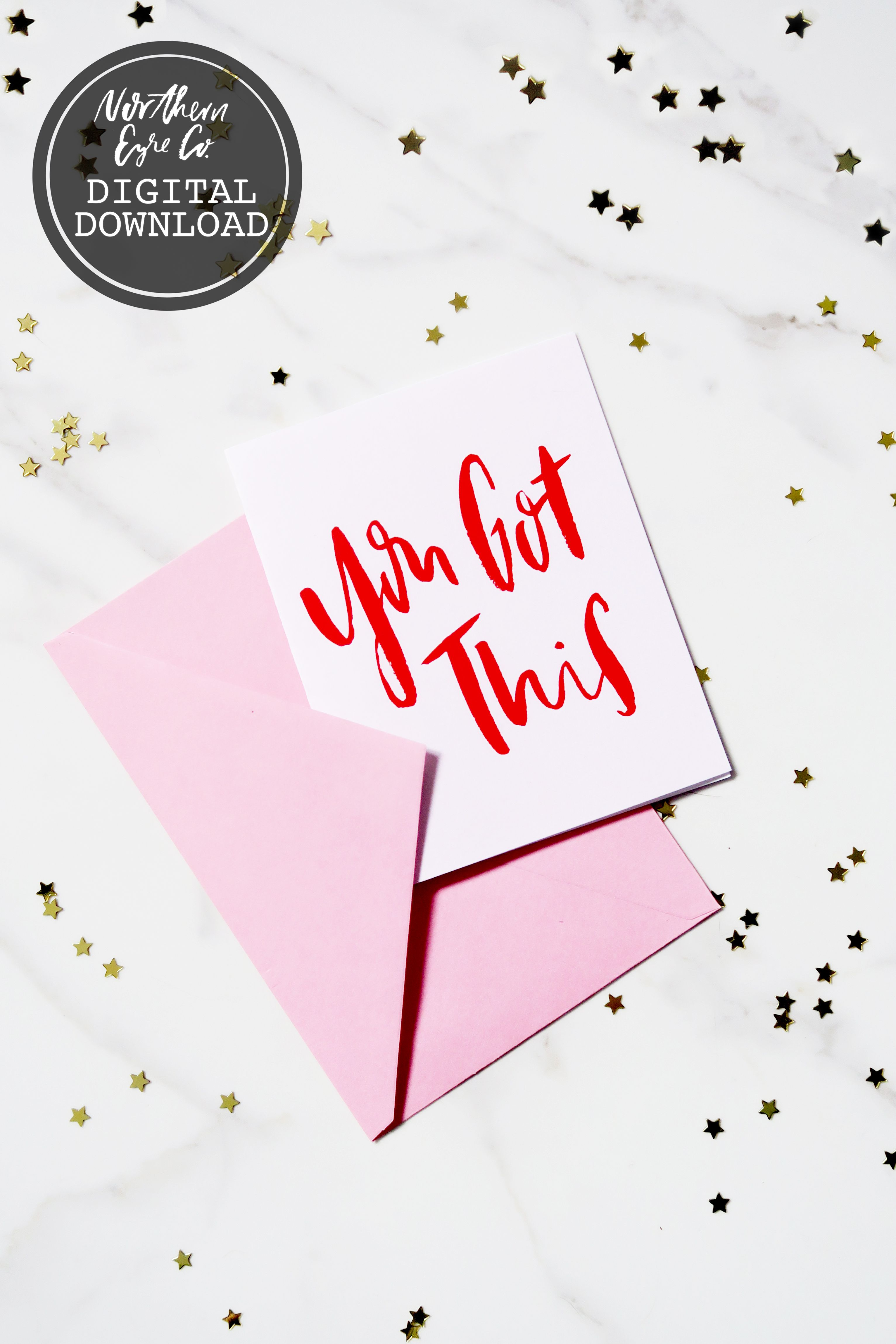 Affirmation Card Congrats Galentine S Printable Girl Power