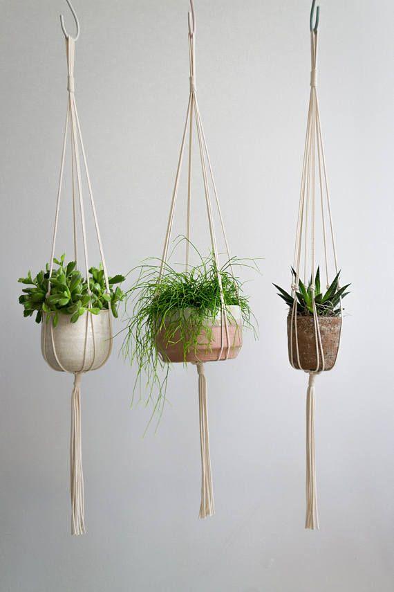 Macrame Plant Hanger / Hanging Planter / Succulent Planter / Plant Holder /  Plant Hanger / Modern Macrame / Gift For Her / Housewarming Gift    LiebesNest ...