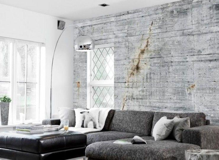 Concrete Wallpaper Collection By Tom Haga Decoholic Scandinavian Decor Living Room Concrete Wallpaper Living Room Scandinavian
