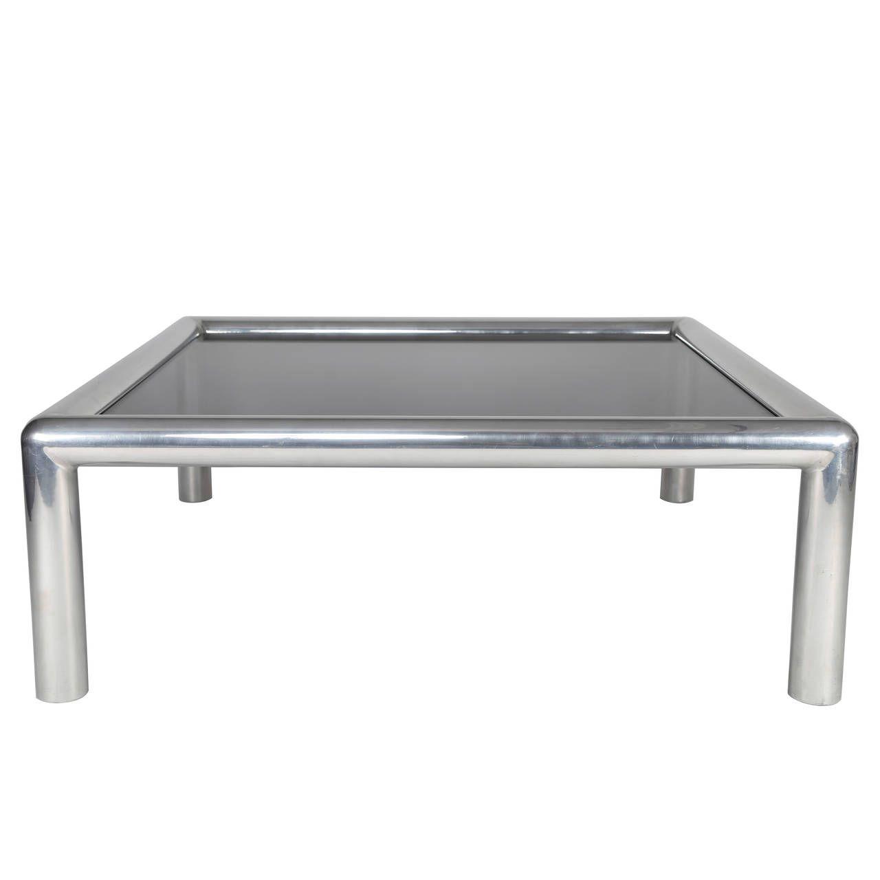 John Mascheroni Tubo Coffee Table Coffee Table Table Smoked Glass [ 1280 x 1280 Pixel ]