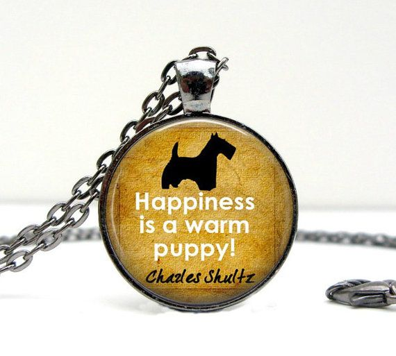 Dog Lover GIFT - Dog Necklace - Scottish Terrier - Dog Quotes - Dog Jewelry - Gifts for Dog Lovers - Birthday Gift - Handmade Gifts