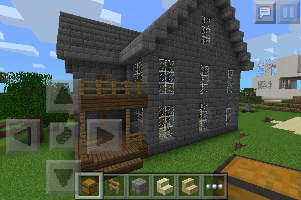 Minecraft Stone House Minecraft House Tutorials Stone Houses Minecraft Houses Survival