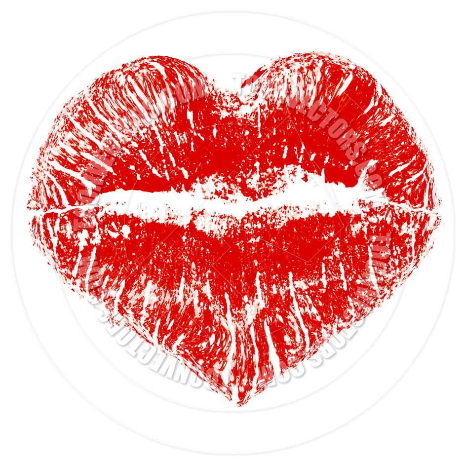 Red Kissing Lips Clip Art Kiss Lips Lipstick Print Love