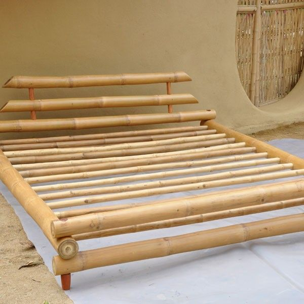 Furniture Bamboo King Size Bed Use coupon code \