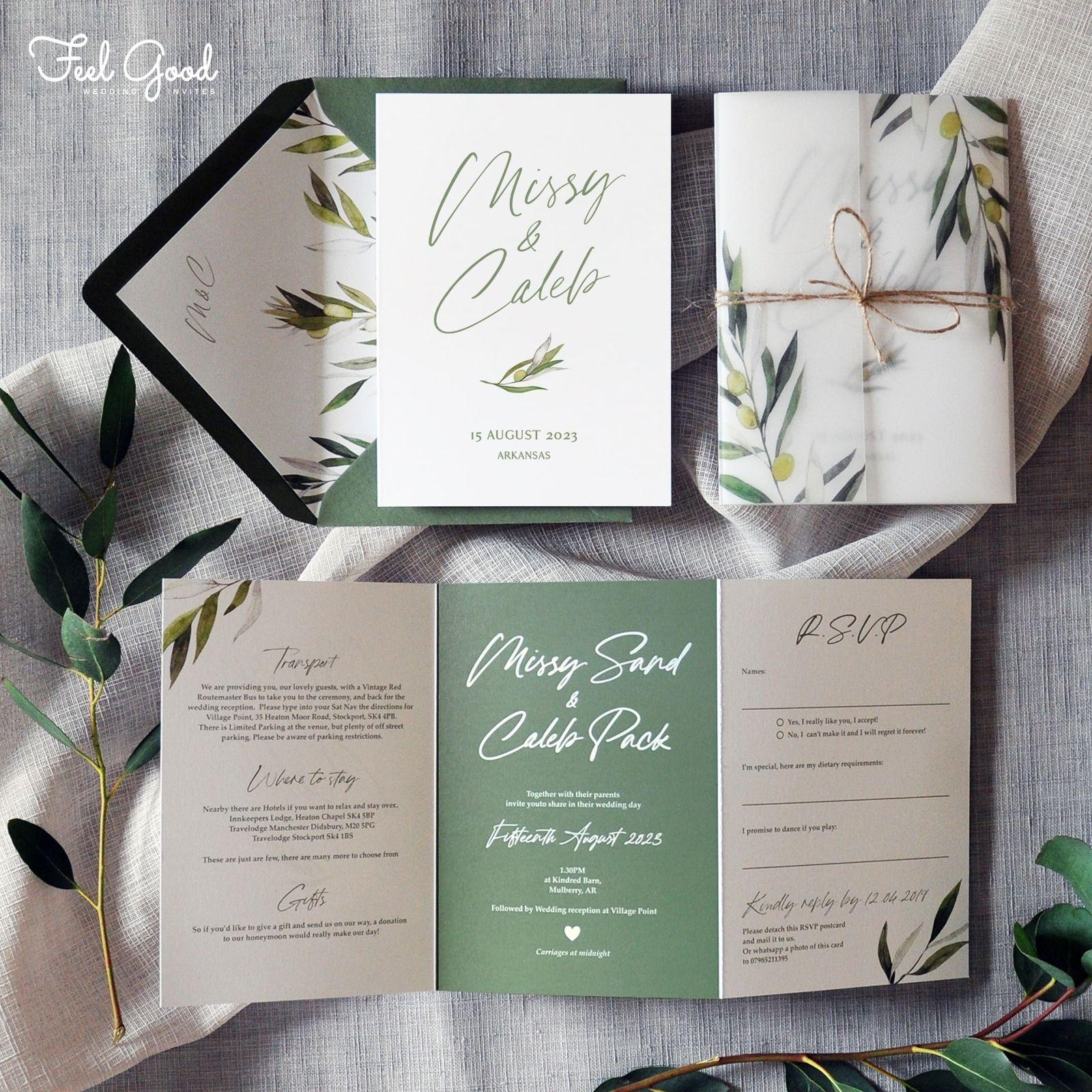 Madeira Wedding Invitation Featuring