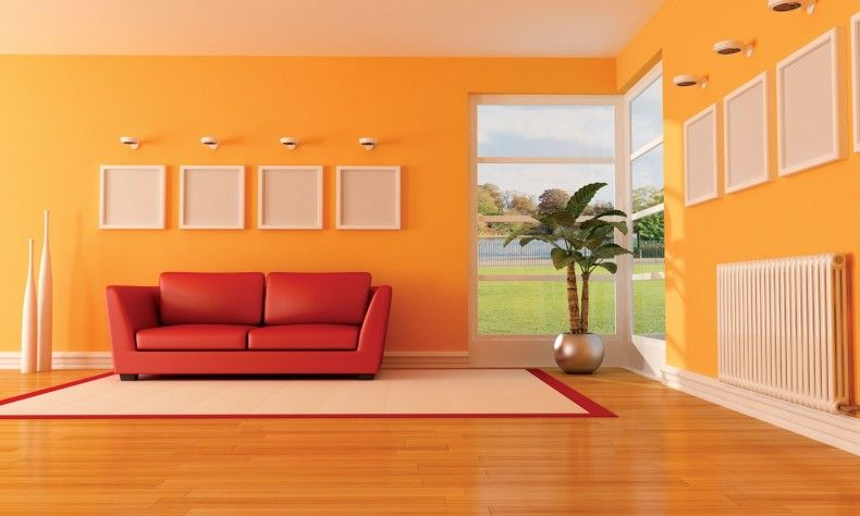 Orange living room designs orange rooms pinterest for Living room ideas orange