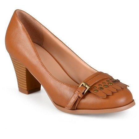 Women's Journee Collection Nora Stacked Heel Loafer Pumps : Target