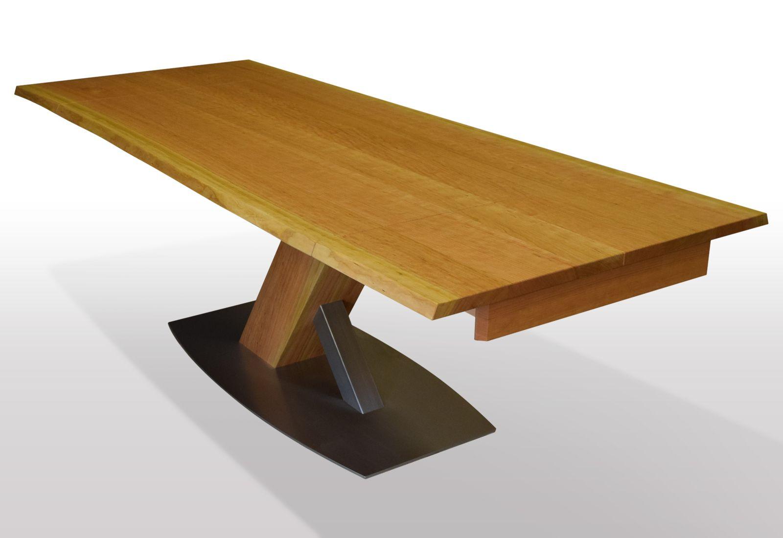 Tisch mit baumkante kirschbaum eu breite 80cm l nge for Hersteller esstische ausziehbar