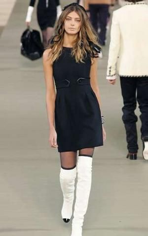 Coco Chanel | Coco chanel, Over the knee boots and Chanel dress