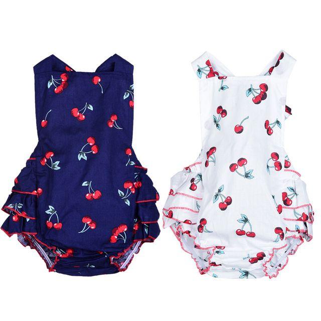a16fa4d12 Fair price 100% Cotton Baby Girl Rompers + Headbands Sleeveless ...