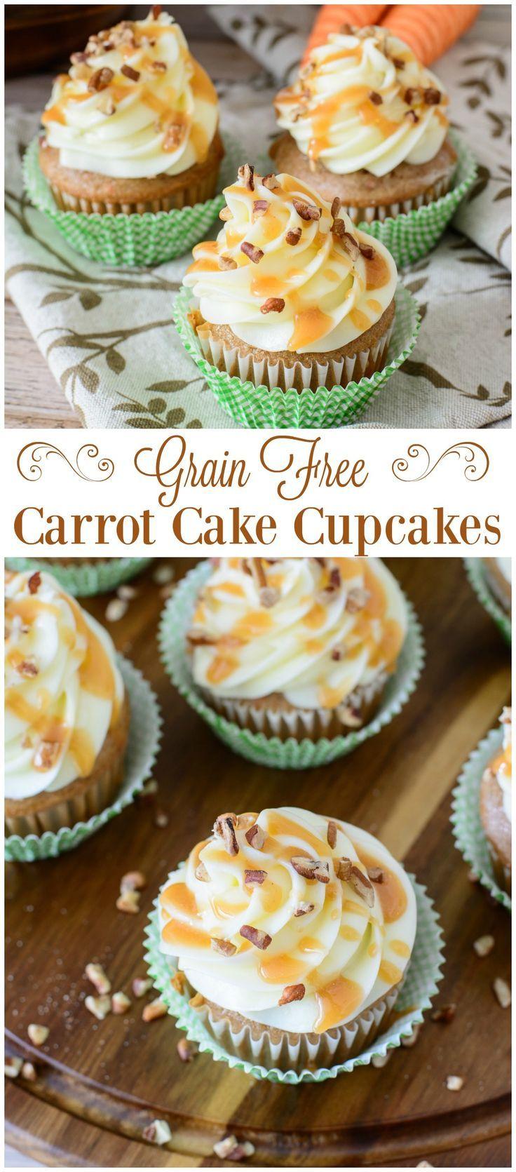 This irresistible grain free carrot cake cupcake recipe is