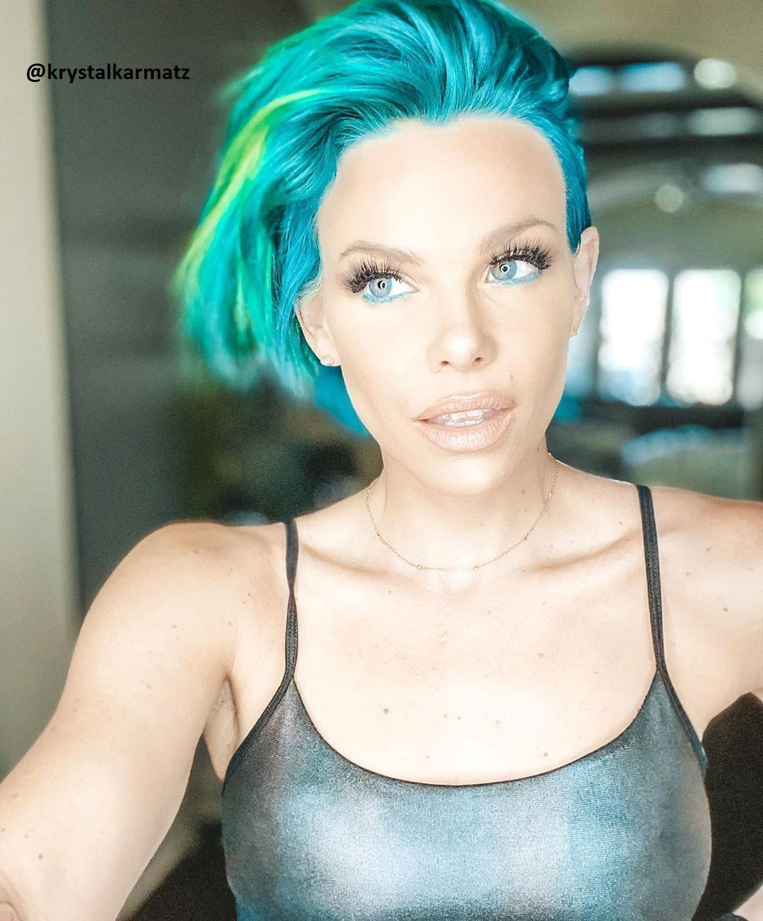 Schöne Bunte Haarfarben für Kurzhaarfrisuren Frauen