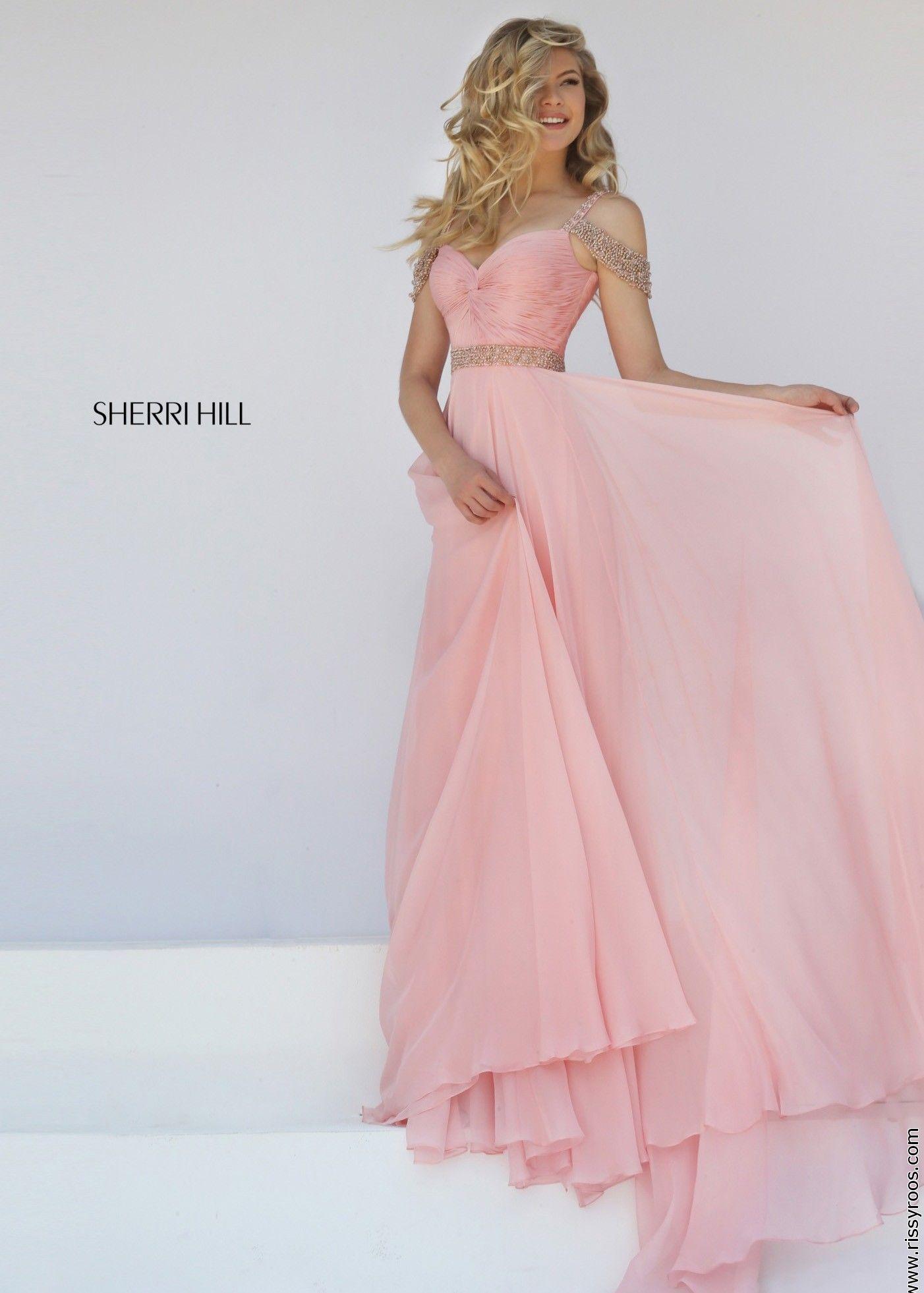 Sherri Hill 50086 Ruched Chiffon Evening Gown | Vestidos, Sherri ...