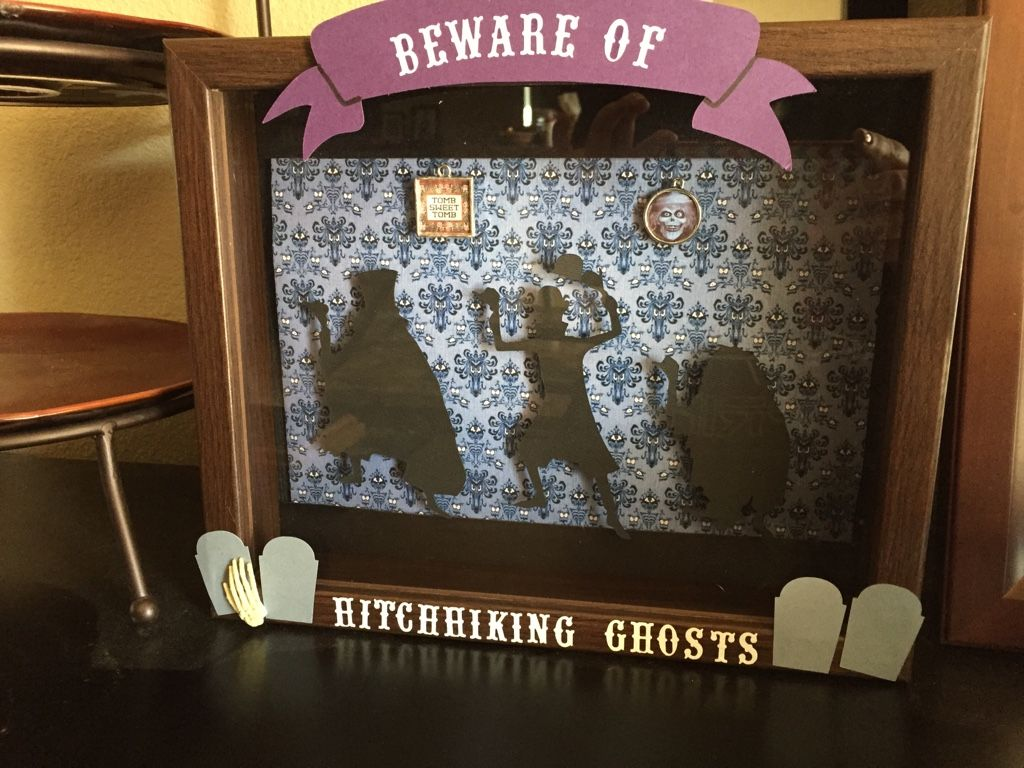Hitchhiking Ghosts Shadowbox - MISCELLANEOUS TOPICS  - Holiday crafts, Knitting, sewing, crochet, tutorials, children crafts, jewlery, needlework, swaps, papercrafts, cooking and so much more on Craftster.org